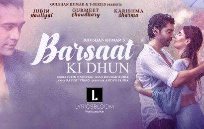 Barsaat Ki Dhun Jubin Nautiyal Lyrics