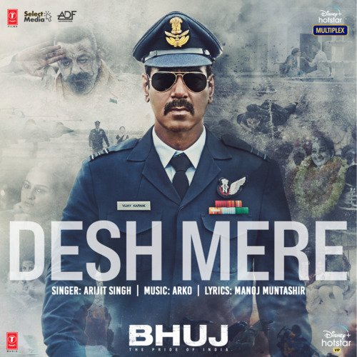 Desh Mere Bhuj Piano Notes Poster